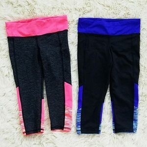 Old Navy Active Go-dry Mesh Trim Cropped girls